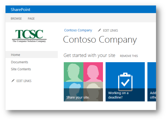 how to make changes to a sharepoint site